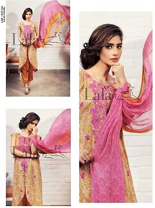 Lala Textiles Embroidered Lawn Suit LC2 7A in Pakistan