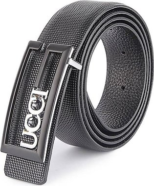 GUCCI Black / Silver G Buckle - Black Dotted Textured Belt in Pakistan