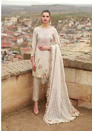 MAHIYMAAN BY AL-ZOHAIB Embroidered Lawn Suit MHM18 2B in Pakistan