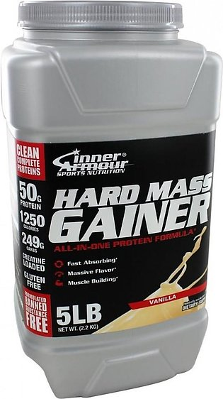 Inner Armour Blue Whey Protein Concentrate Hard Mass Gainer Vanilla 5 lbs in ...