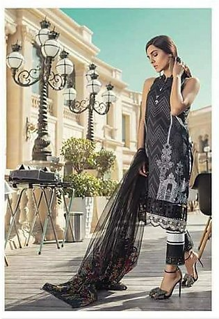 MARIA.B Luxury Embroidered Lawn Suit MBL18 12A in Pakistan