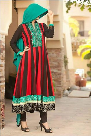 Salitex Semistitched Chiffon Embroidered Suit STX 4A in Pakistan
