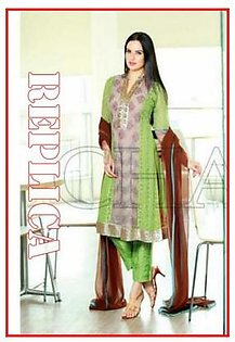 Charizma Embroidered Chiffon Suit CH 23 RP in Pakistan