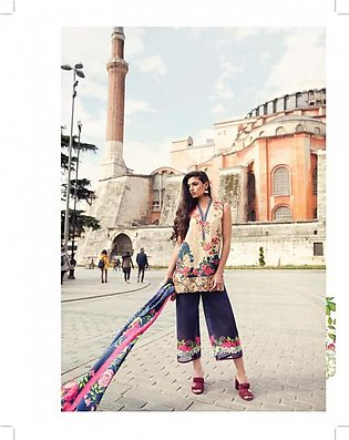 MINA HASAN BY SHARIQ Embroidered Lawn Suit MINA18 3B in Pakistan