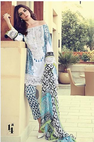 Maria B Embroidered Lawn Suit MB17 14A in Pakistan