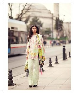 MINA HASAN BY SHARIQ Embroidered Lawn Suit MINA18 7A in Pakistan