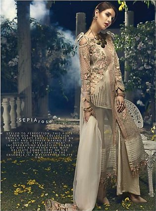 ITTEHAD TEXTILES Formal Embroidered Chiffon Suit IRFC18 04 in Pakistan