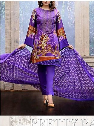 FAUSTINA BY SALITEX Embroidered Chikan Kari Suit FAUS18 25B in Pakistan