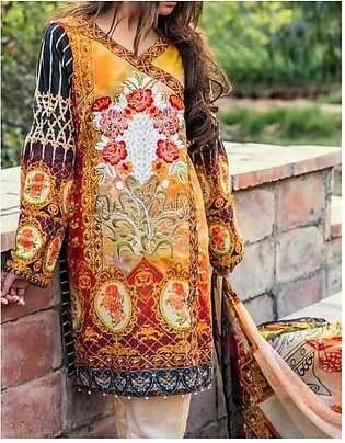 ROCOCO BY SALITEX Embroidered Luxury Digital Lawn Suit ROC18 05 in Pakistan