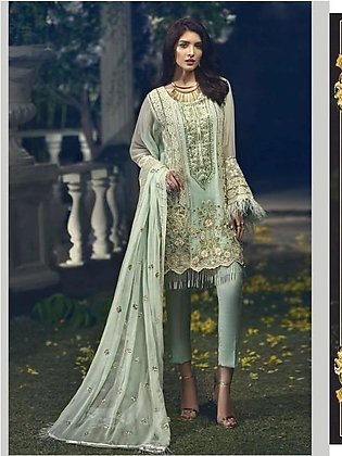 ITTEHAD TEXTILES Formal Embroidered Chiffon Suit IRFC18 02 in Pakistan