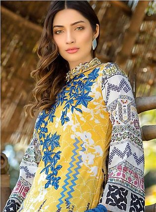 MARJAAN BY SIFONA Digital Printed Embroidered Lawn Suit MJDL18 03 in Pakistan