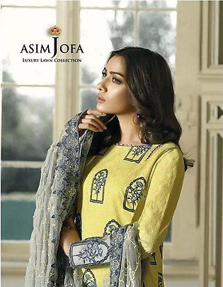 ASIM JOFA Luxury Embroidered Lawn Suit AJL18 7B in Pakistan