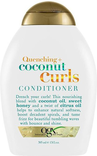 OGX Quenching + Coconut Curls Conditioner, Sulfate Free, 385ml