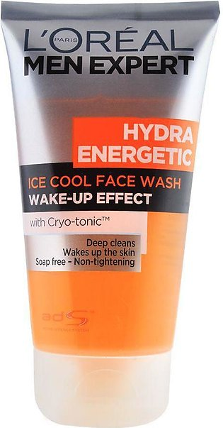 Loreal Paris Men Expert Hydra Energetic Ice Cool Face Wash, Soap Free, 150ml