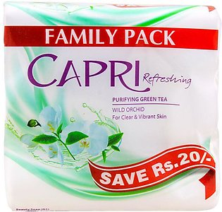 Capri Refreshing Purifying Green Tea Soap, Saving Pack 3x140g