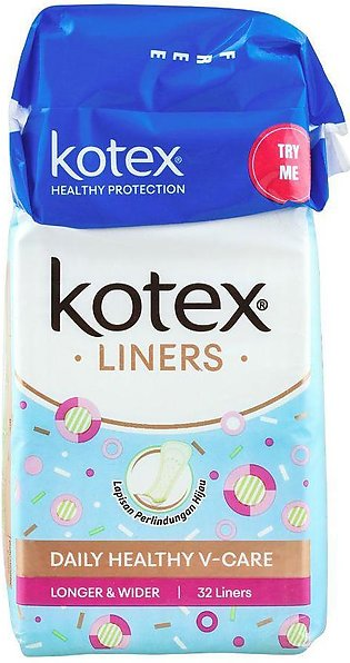 Kotex Liners, Daily Healthy V-Care 32-Pack + 4 FREE Pads