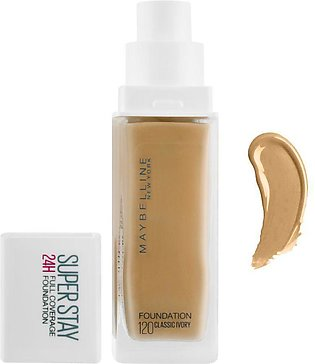 Maybelline New York Superstay 24h Full Coverage Foundation, 120 Classic Ivory