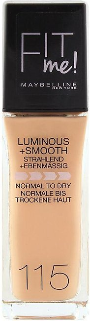 Maybelline New York Fit Me Liquid Foundation, 115 Ivory