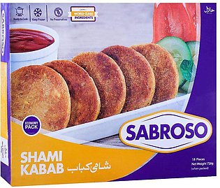 Sabroso Chicken Shami Kabab, 18 Pieces, 720g