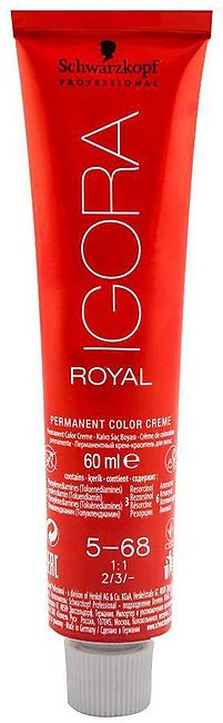 Schwarzkopf Igora Royal Hair Color 5-68 Light Brown Chocolate Red