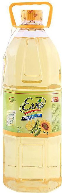 Eva Cooking Oil 3 Litres Bottle