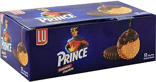 LU Prince Covered In Chocolate Sandwich Biscuits, 12 Ticky Packs