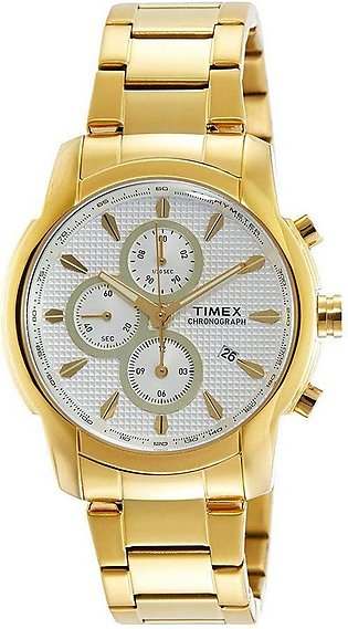 Timex Chronograph White Dial Men's Watch - TW000Y514