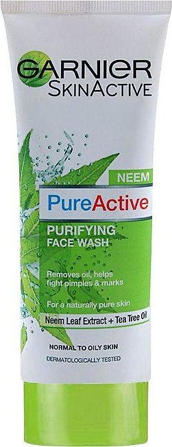 Garnier Skin Active Pure Active Neem Purifying Face Wash, For Normal to Oily ...