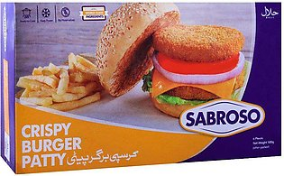Sabroso Crispy Burger Patty, 6 Pieces, Chicken, 500g