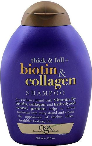 OGX Thick & Full + Biotin & Collagen Shampoo, Sulfate Free, 385ml