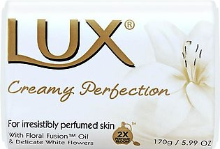 Lux Creamy Perfection Soap, Imported, Floral Fusion Oil + Delicate White Flow...