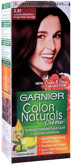 Garnier Color Natural Hair Colour, 3.61, Luscious Blackberry