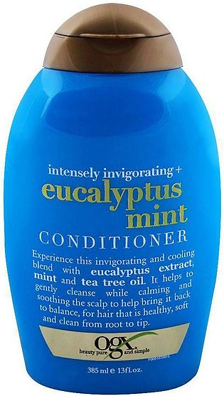 OGX Intensely Invigorating + Eucalyptus Mint Conditioner, Sulfate Free, 385ml