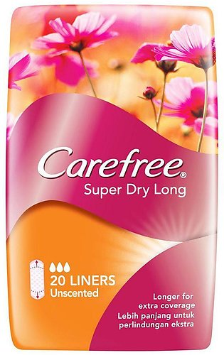 Carefree Super Dry Long Liners, Unscented, 20-Pack