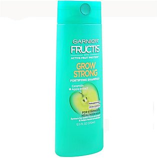 Garnier Fructis Grow Strong Fortifying Shampoo, Ceramide + Apple Extract, Parab…
