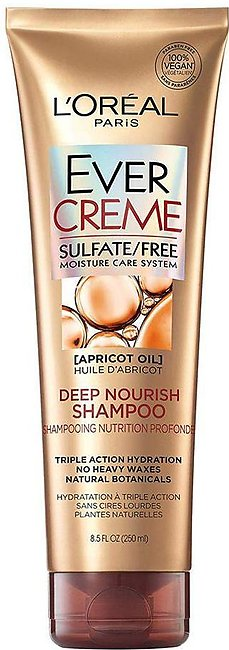 L'Oreal Paris Ever Creme Apricot Oil Deep Nourish Shampoo, Sulfate Free, 250ml