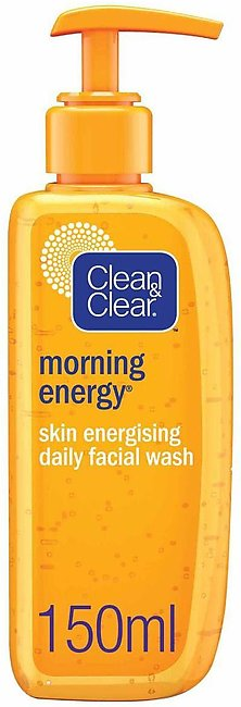 Clean & Clear Morning Energy Skin Energising Daily Facial Wash Oil Free, 150ml