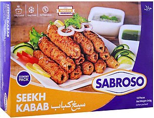 Sabroso Chicken Seekh Kabab, 18 Pieces, 540g