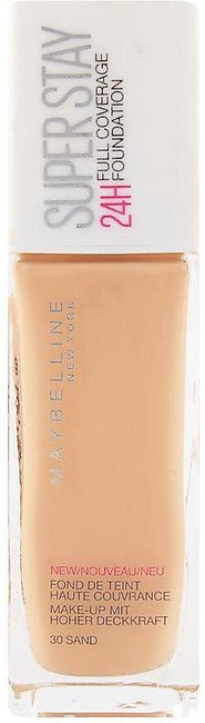 Maybelline New York Superstay 24h Foundation, 30 Sand