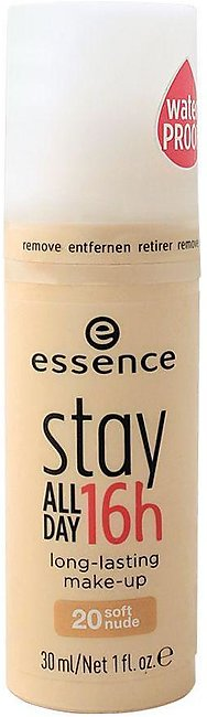 Essence Stay All Day 16H Long Lasting Make-Up Foundation, 20, Soft Nude