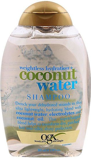 OGX Weightless Hydration + Coconut Water Shampoo, Sulfate Free, 385ml