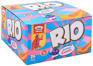 Peek Freans Rio Cotton Candy Biscuits, 24 Tikky Pack