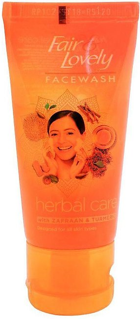 Fair & Lovely Herbal Care Face Wash With Zafraan & Turmeric, 50g