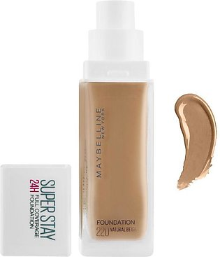 Maybelline New York Superstay 24h Full Coverage Foundation, 220 Natural Beige