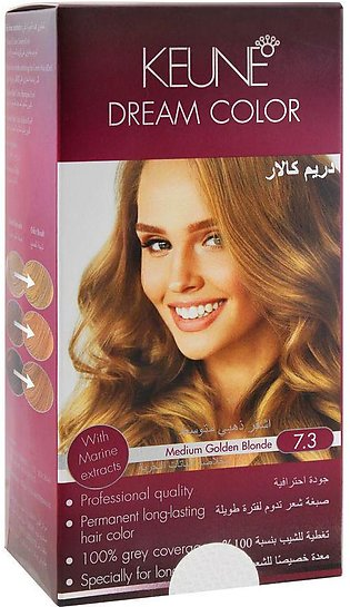 Keune Dream Hair Color, 7.3 Medium Golden Blonde