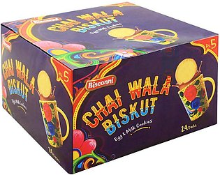 Bisconni Chai Wala Biskut Biscuits, 24 Tikky Packs