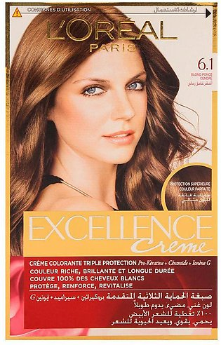 L'Oreal Paris Excellence Hair Color Dark Ash Blond 6.1
