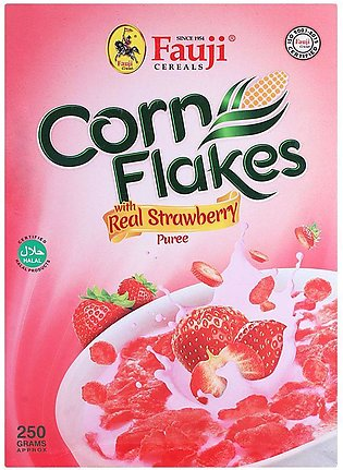 Fauji Corn Flakes Strawberry 250gm