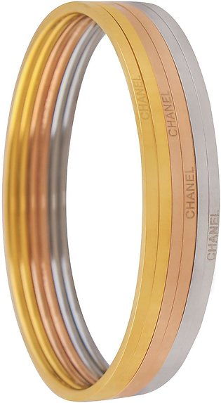 Channel Style Girls Bangle, 6 Pieces, Mix Colour, NS-021