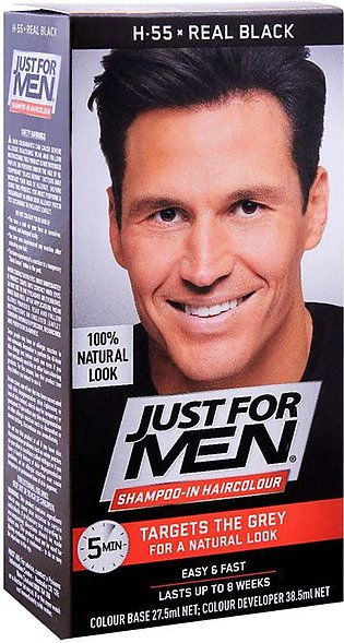 Just For Men Shampoo-In Hair Colour, H-55 Real Black